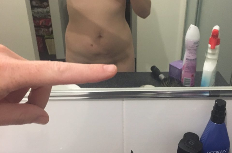 Single finger challenge naked selfie